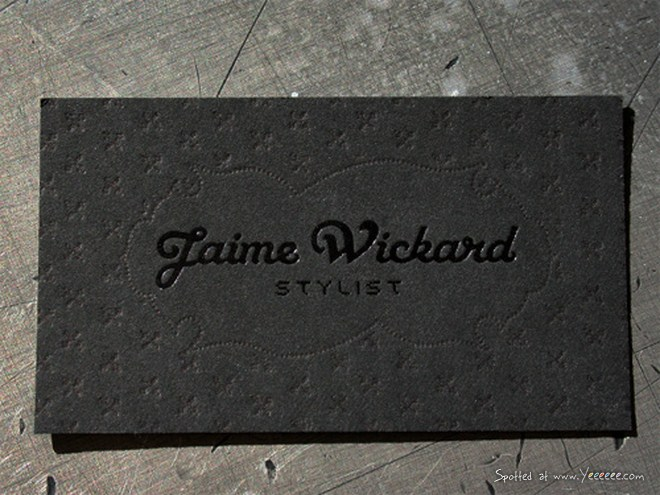 Post image for Jaime Wickard's Textured Business Card