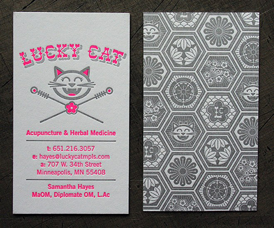 Lucky Cat's Cute Business Card