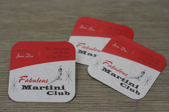 Martini Club's Creative Business Card