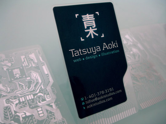 Post image for Tatsuya Aoki's Plastic Business Card
