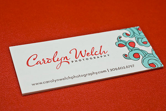 Post image for Carolyn Welch's Photography Business Card