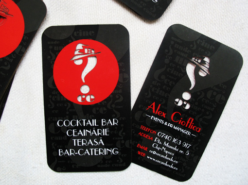 Ce Cocktail Bar's Die Cut Business Card