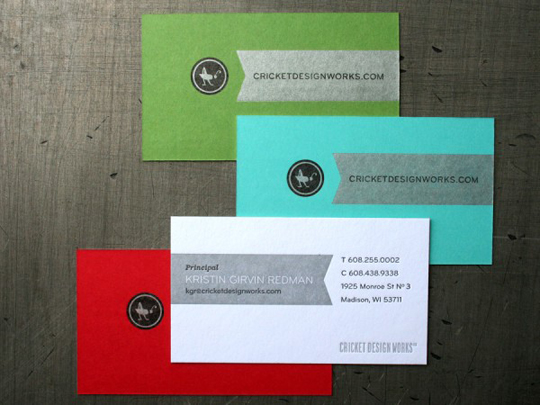 Post image for Cricket Design Works' Full Color Business Card