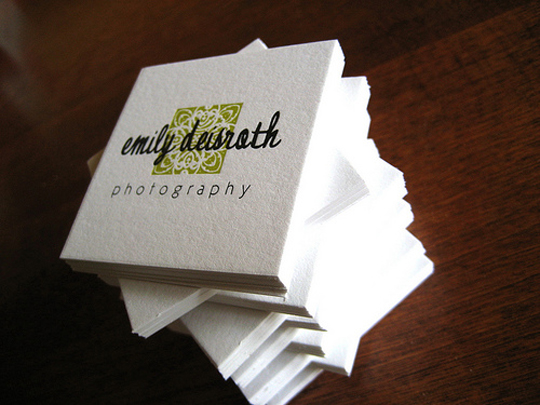 Emily Deisroth's Photography Business Card