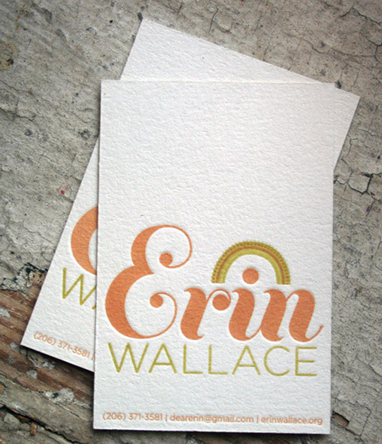 Erin Wallace's Cute Business Card
