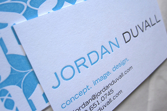 Jordan Duvall's Designer Business Card
