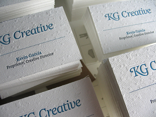 KG Creative's Graphic Design Business Card