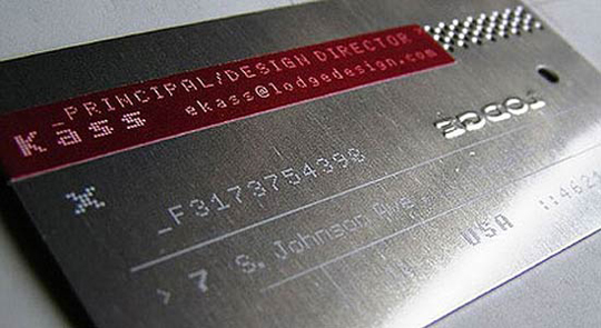 LodgeDesign's Metal Business Card