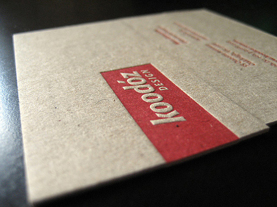 Koodoz Design's Textured Business Card