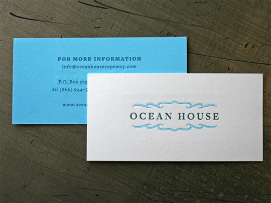 Ocean House's Simple Business Card