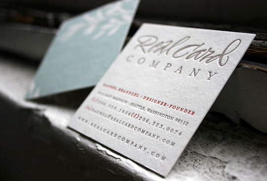 Real Card Company's Letterpressed Business Card