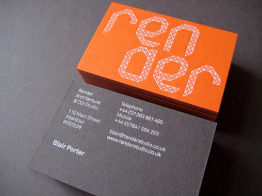 Render's Cool Business Card