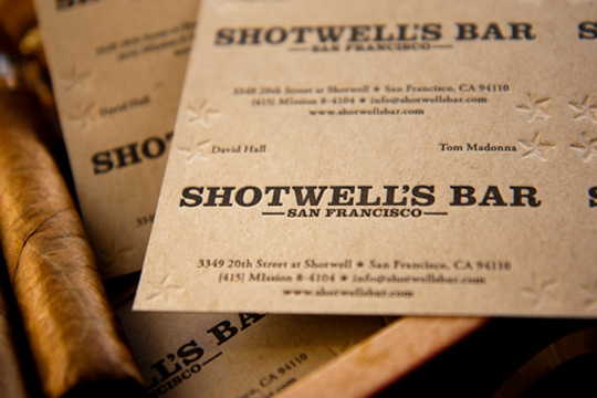 Shotwell's Bar's Cool Business Card