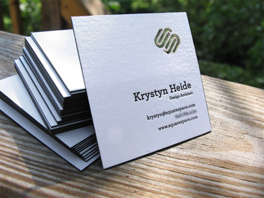 Square Space's Die Cut Business Card