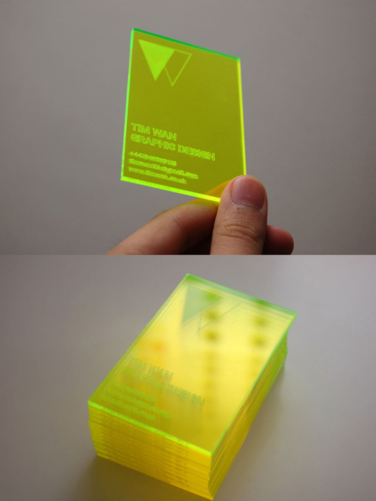 Tim Wan's Plastic Business Card