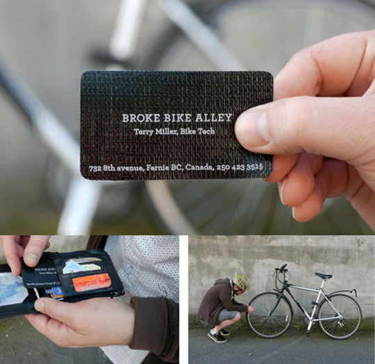 Broke Bike Alley's Unique Business Card