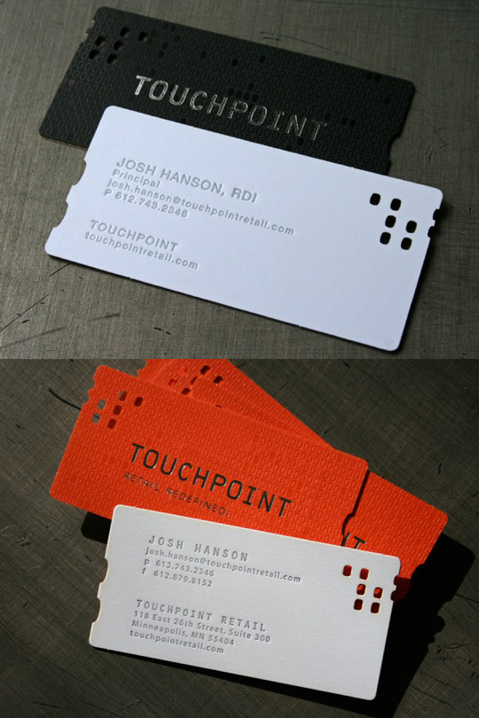 Touchpoint's Die Cut Business Card