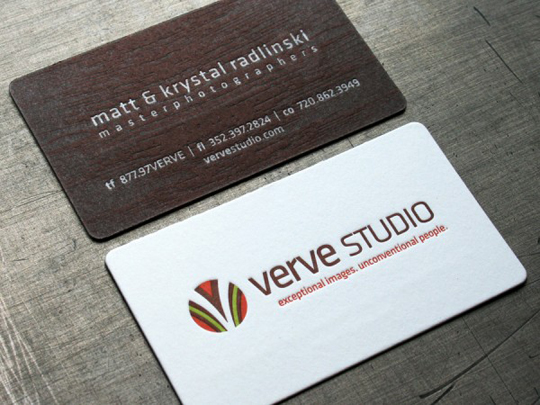 Verve Studio's Textured Business Card