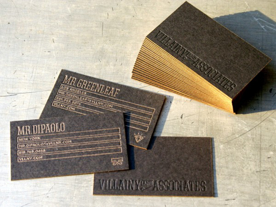 Villainy and Associates' Cool Business Card