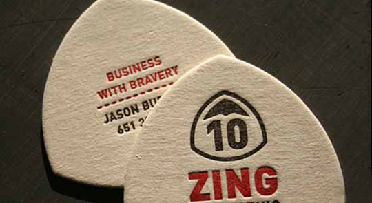 Beast Pieces' Die Cut Business Card for Zing Consulting