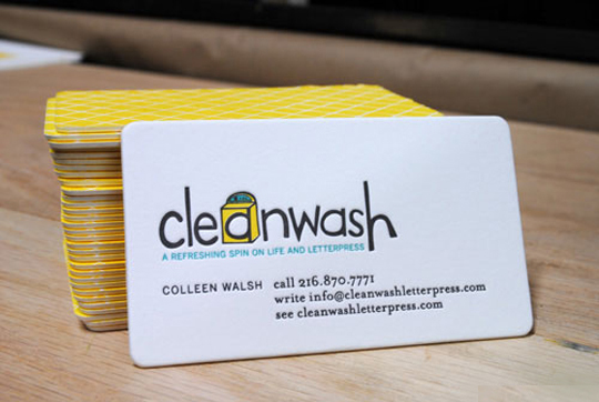 Cleanwash Letterpress Business Card