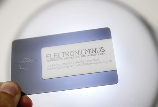 Electronic Minds' Plastic Business Card