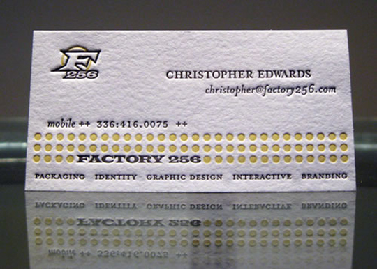 Factory 256's Advertising Business Card