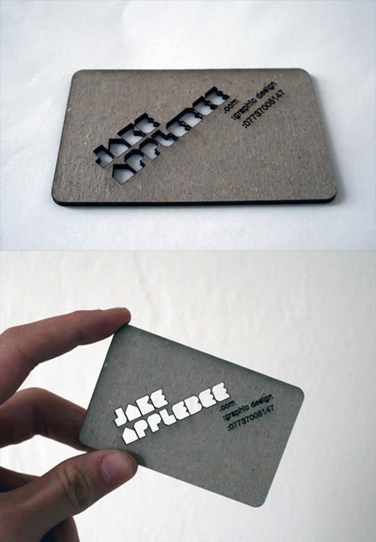 Jake Applebee's Graphic Design Business Card