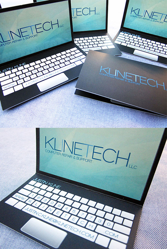 Klinetech's Folding Business Card