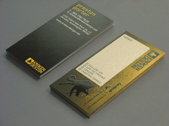 Kraken Design's Textured Business Card