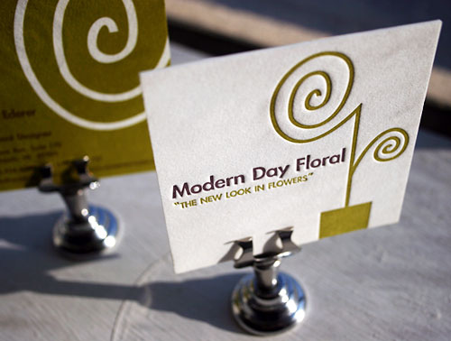 Modern Day Floral's Simple Business Card