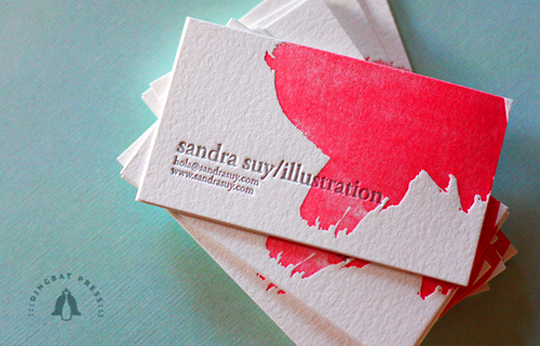 Sandra Suy's Simple Business Card