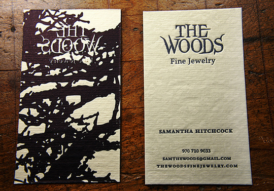 The Woods' Textured Business Card
