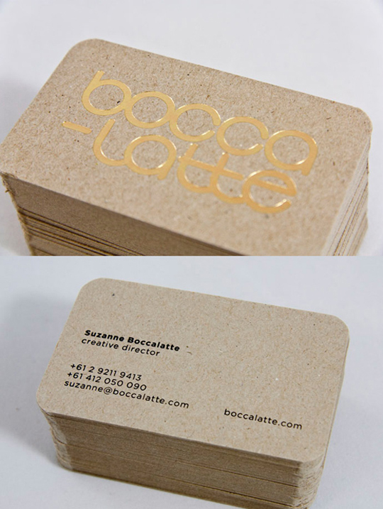 Boccalatte's Minimalist Business Card