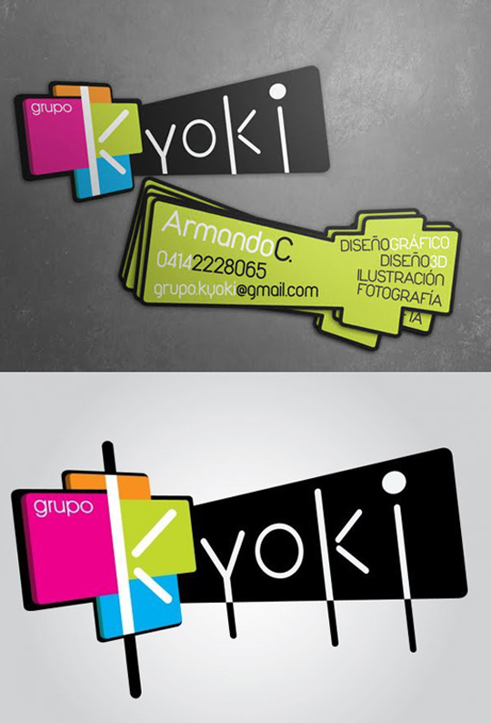 Post image for Kyoki&#8217;s Graphic Designer Business Card
