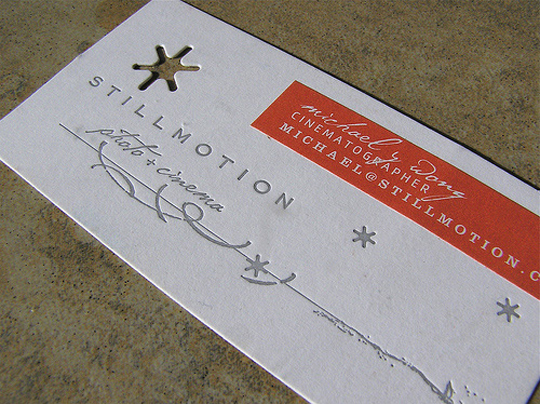 Stillmotion's Advertising Business Card