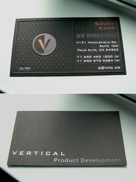 Post image for VPD's Textured Business Card