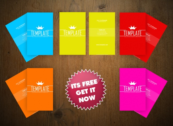 Free Bold & Colorful Business Card Template by An1ken Creative