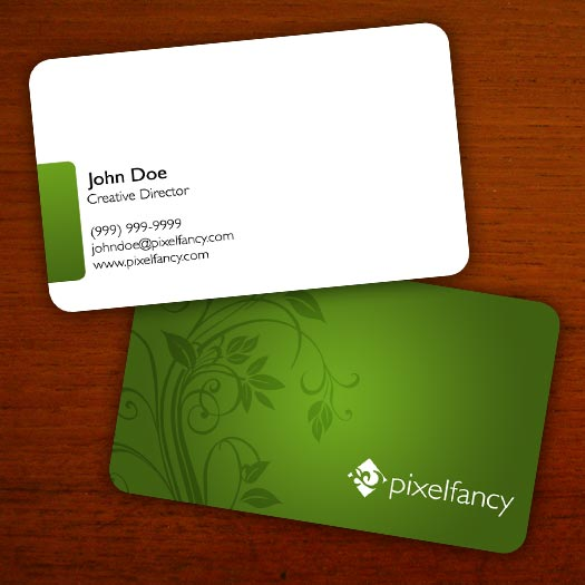 A simple floral business card template design by daniel beehn for Business card designs templates