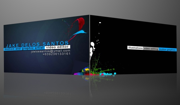 Colorful Business Card Design by Jake Delos Santos
