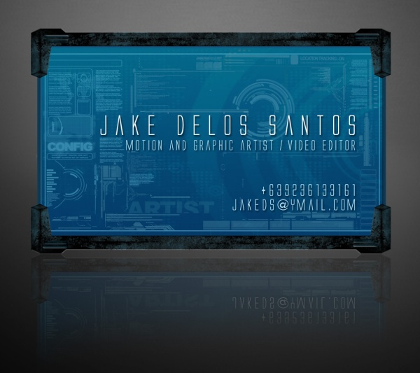 Digital Business Card Design by Jake Delos Santos