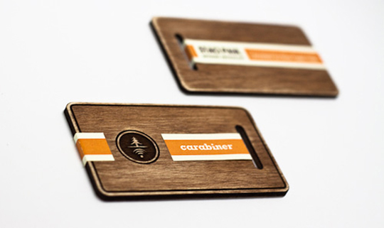 Carabiner's Die Cut Business Card