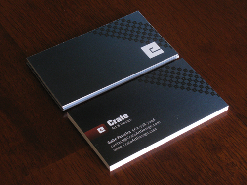 Minimalist Black Business Card Design by Gabe Ferreira