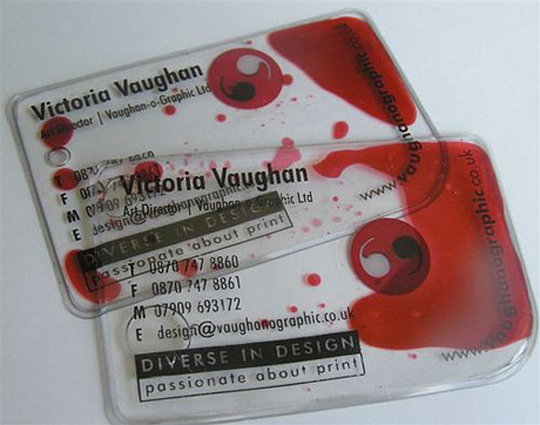 Bloody Cool Business Card By Victoria Vaughan