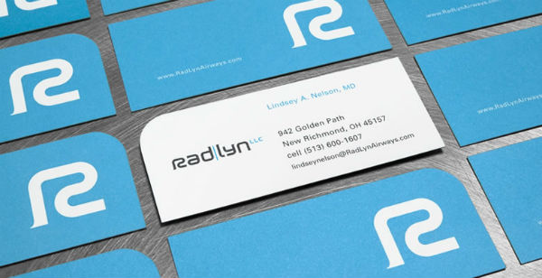 Radlyn Airways Logo-riffic and Uniquely Shaped Business Card