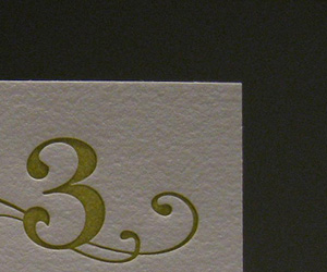 3 Magic Beans Letterpress Business Card