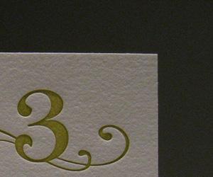 3 Magic Beans Letterpress Business Card