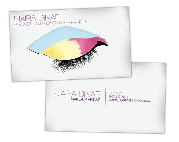 This is what a Make Up Artist's Business Card Should Look Like