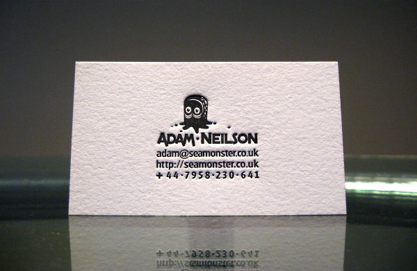 Cute Letterpress Business Card