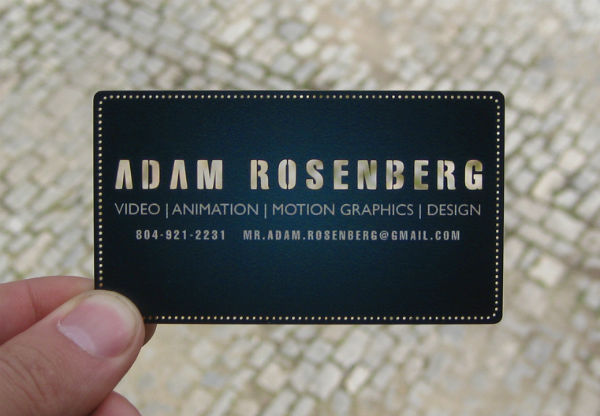 Mr. Adam Rosenberg's Cool Laser Cut Business Card